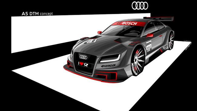L'Audi in campo con le A5 nel 2012