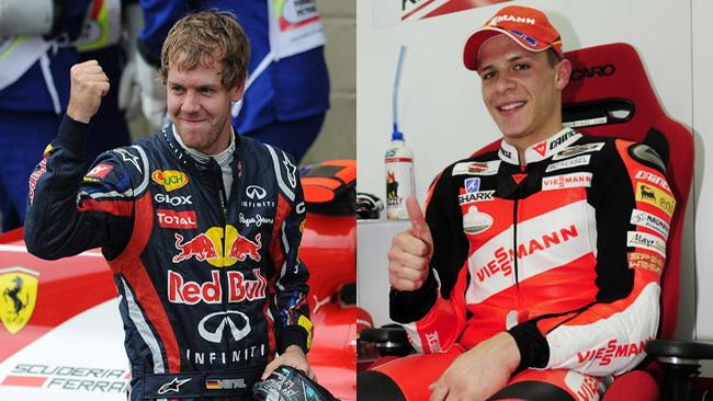 Bradl sfida Vettel su due ruote, ma la Red Bull dice no