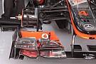 La McLaren con due soluzioni di freni diverse