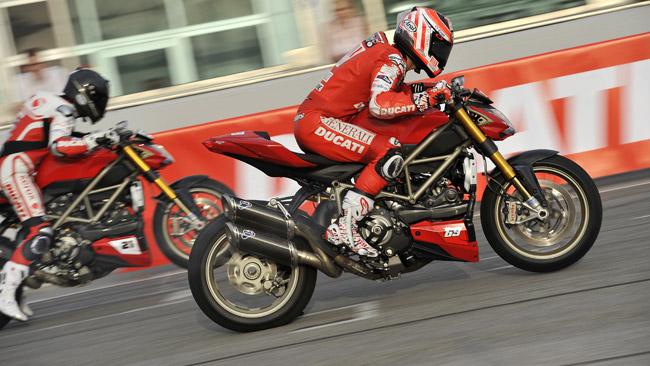 Gara di accelerazione per i piloti Ducati al WDW