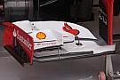 Paratie con più soffiaggi sull'ala della Ferrari