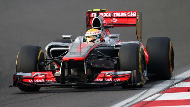 Barra antirollio ko sulla McLaren di Hamilton
