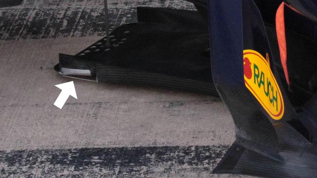 Ecco il pezzo che faceva le scintille sulla Red Bull