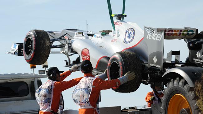 La Sauber C32 ha superato il crash test