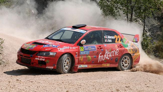 Noberasco al Rally di Montecarlo con la Mitsubishi