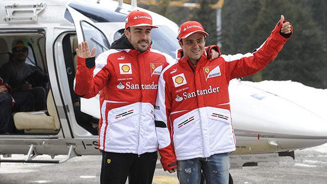 Anche Alonso e Massa sono già a Campiglio