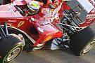 La Ferrari F138 ha una nervatura sul fondo posteriore