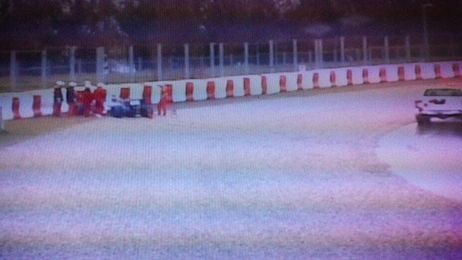 Barcellona, Day 1, Ore 13: Gutierrez sbatte alla curva 3