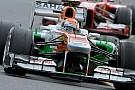 Sutil raggiante dell'inizio con la Force India