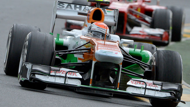 Sutil raggiante dell'inizio con la Force India