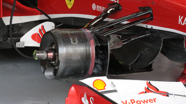 La Ferrari ha richiuso i cestelli dei freni sulla F138