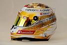 Alonso celebra le sue vittorie sul casco per Monaco