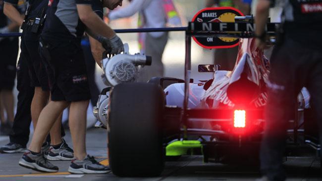Test con le Pirelli 2014 per la Red Bull a Barcellona