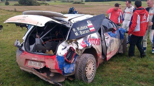 Kubica illeso in un brutto incidente durante un test