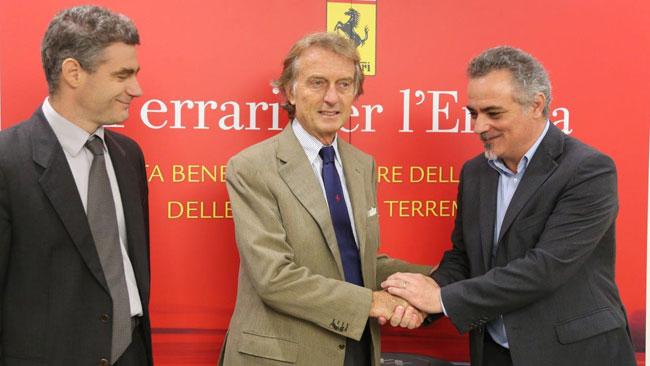 La Ferrari dona 1,9 milioni ai terremotati dell'Emilia