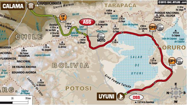 Dakar 2014: auto e moto ancora su percorsi diversi