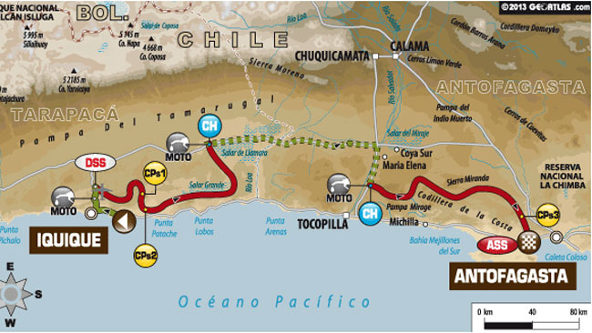 Dakar 2014: decima tappa divisa in due tronconi
