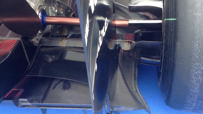 La Williams con il braccio di convergenza... alare