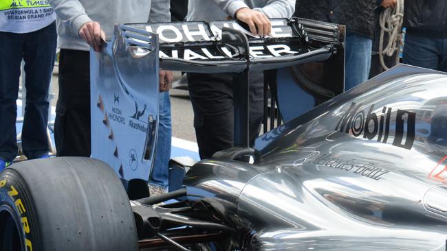 McLaren con il cucchiaio nell'ala posteriore