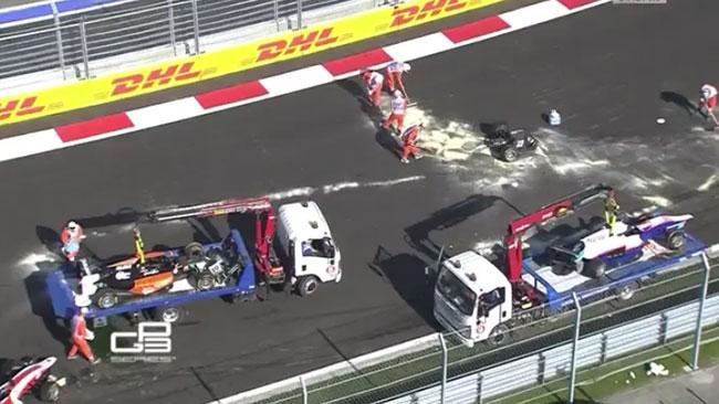 Gara sospesa in GP3 per un brutto incidente