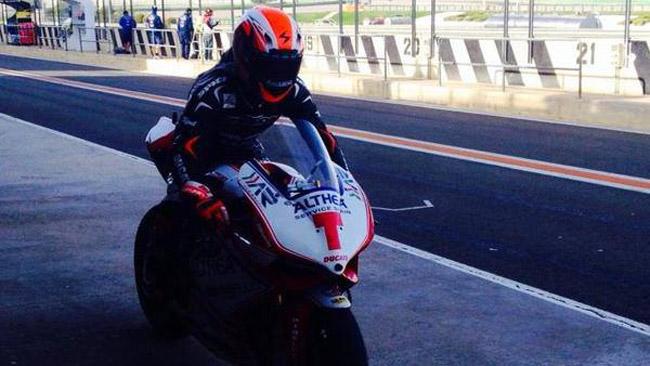 Nico Terol inizia a scoprire la Ducati a Valencia