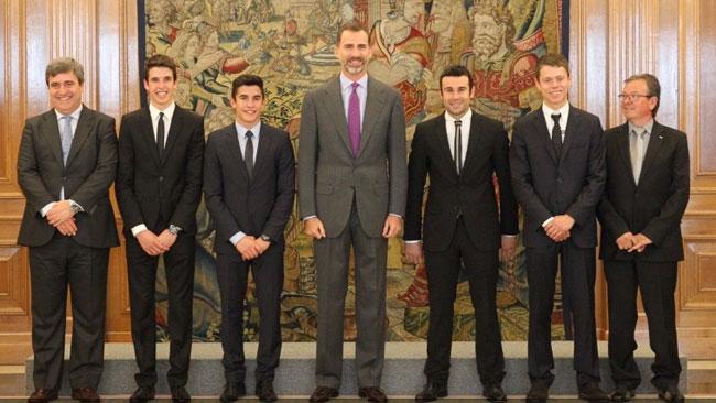 Il Re di Spagna riceve i tre campioni del mondo 2014