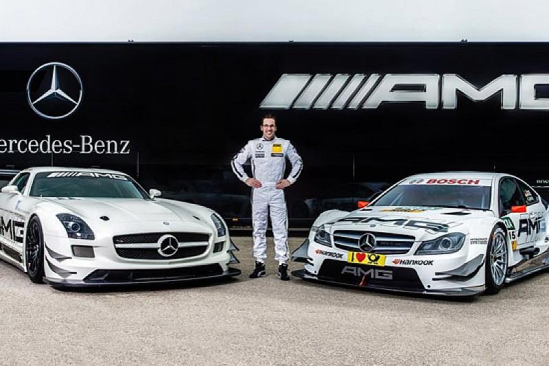 Maximilian Gotz nel programma DTM della Mercedes