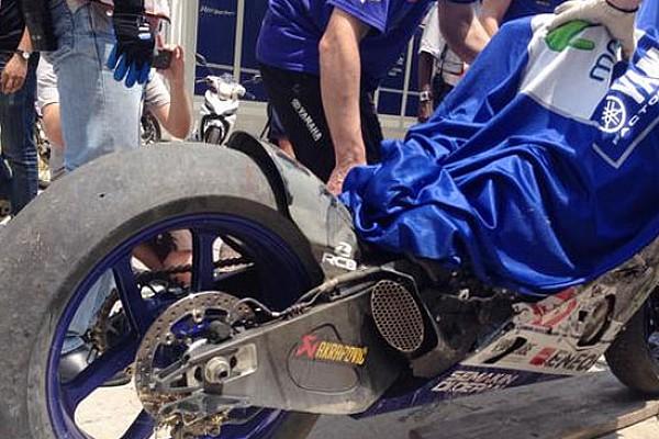Test Michelin: brutte cadute per Lorenzo e Dovizioso