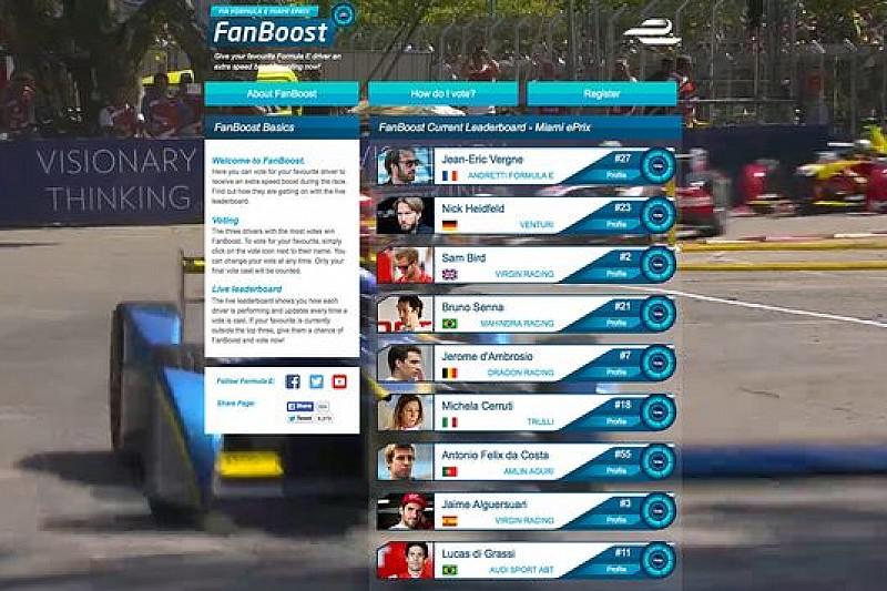 Senna, Durán e Vergne guidano la classifica FanBoost