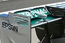 Mercedes: il flap dell'ala posteriore è stato tagliato