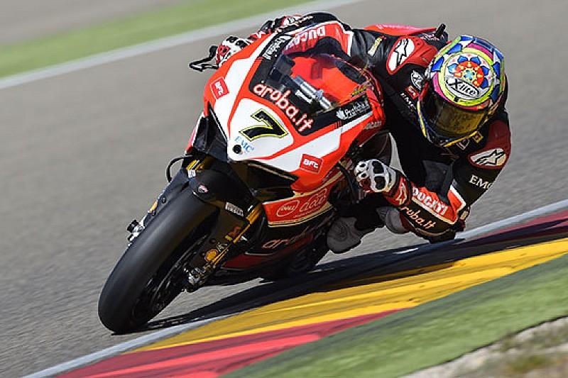 Ducati Panigale subito competitive ad Aragon