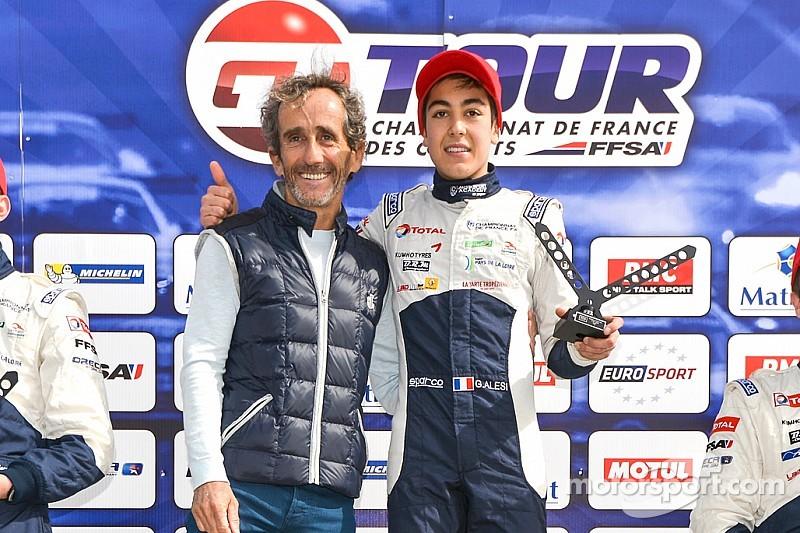 Giuliano Alesi prêt pour la manche F3 de Pau
