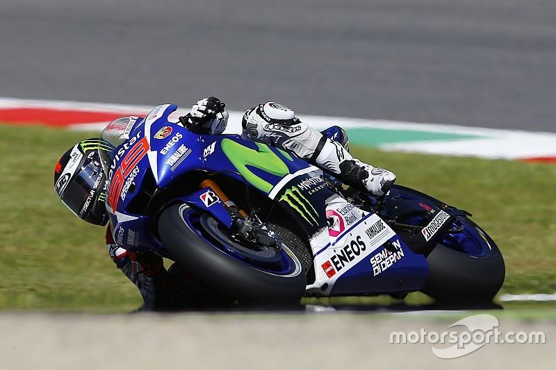 Lorenzo vence e encosta em Rossi no campeonato, Marquez dá show, mas cai mais uma vez