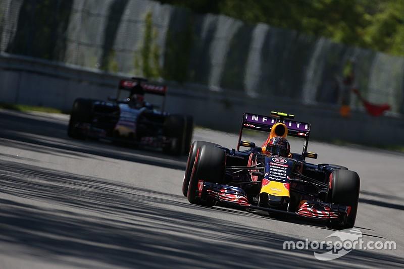 Kvyat superó a Ricciardo en la clasificación
