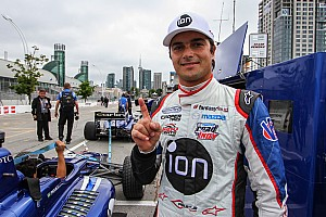 Indy Lights Qualifying report Piquet Jr takes pole in Toronto