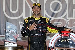 NASCAR Truck Race report Crafton wins Kentucky, NASCAR ends race after truck damages catch fence