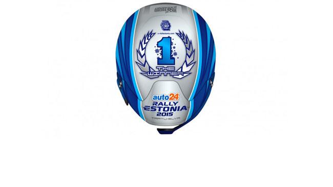 Ecco il casco celebrativo per il vincitore dell'Estonia