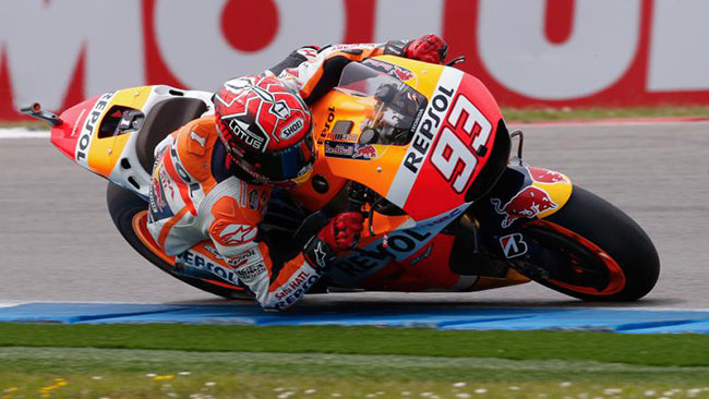 Assen, Warm Up: Marc Marquez in grande spolvero