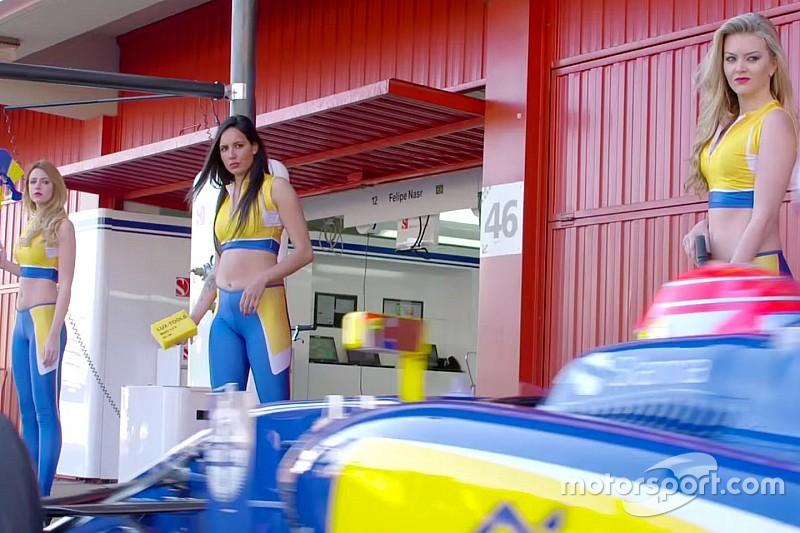 Sauber la joue sexy avec un pitstop/car wash!
