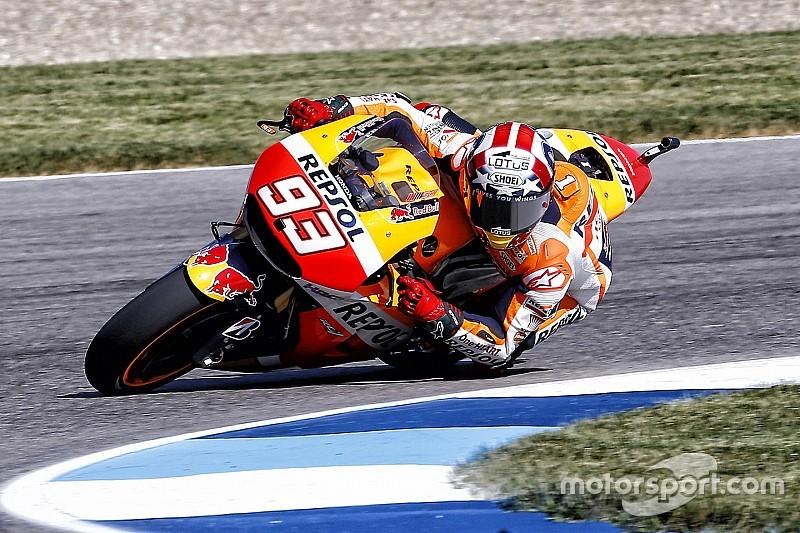 Márquez quedó al frente en la práctica 3