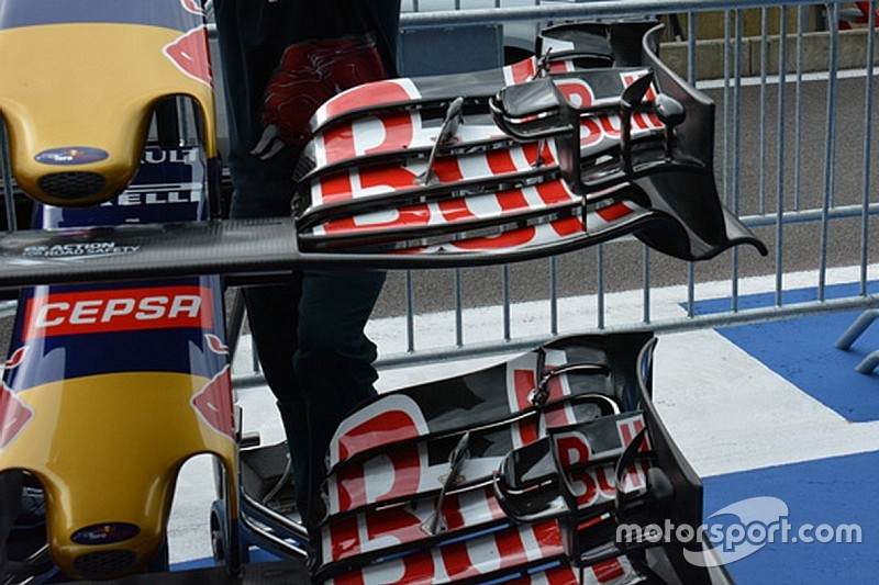 Toro Rosso: tagliato l'ultimo flap dell'ala anteriore