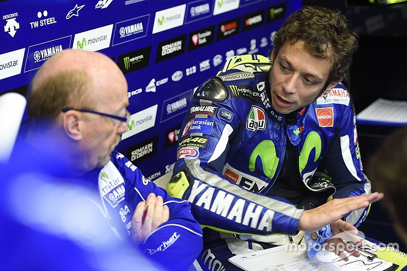 Rossi switches focus to engine braking and rear-tyre life