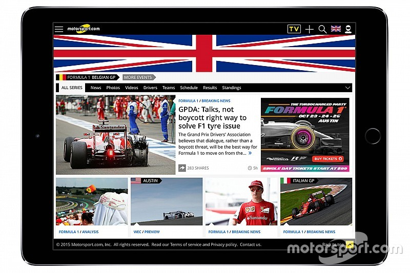 Motorsport.com lancia la specifica piattaforma digitale inglese