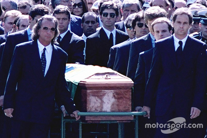 Stewart and Prost 'demoted' as Senna coffin carriers, claims new TV series