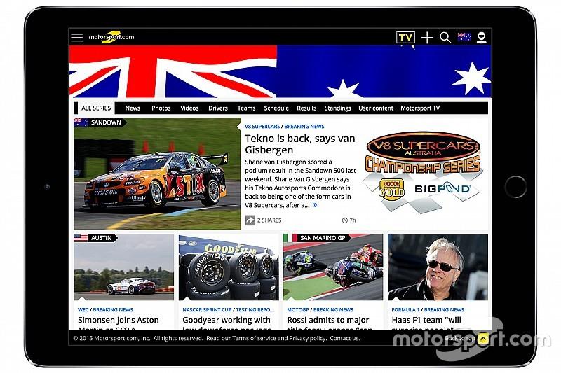 Motorsport.com запускает австралийскую цифровую платформу