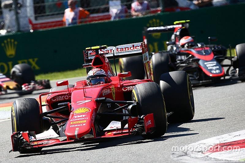 Raikkonen acepta su culpa por la mala largada de Monza