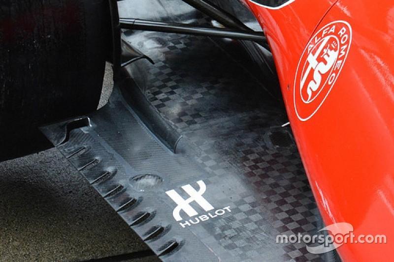 Ferrari: la brake duct funziona in sinergia con la bavetta