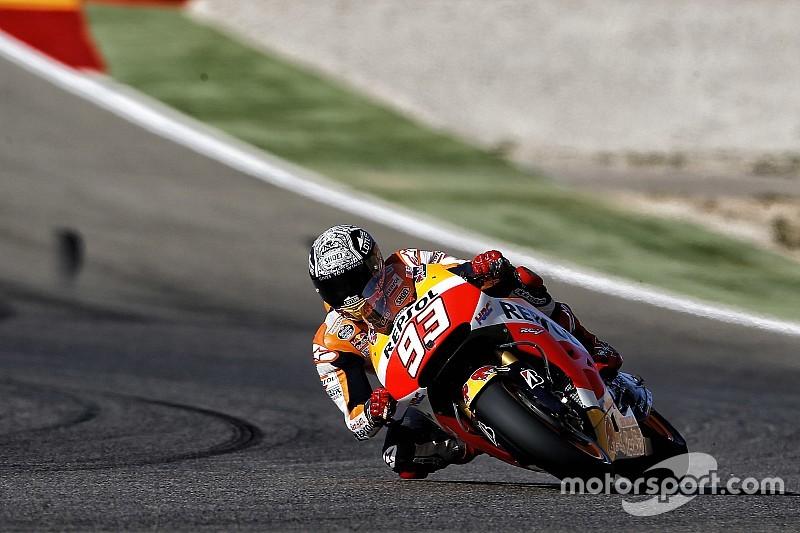 Aragon, Warm-Up: Marquez e Lorenzo sono vicini