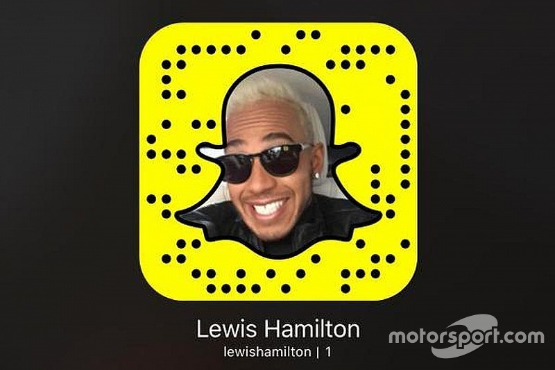 Hamilton se convierte en primer deportista famoso en Snapchat