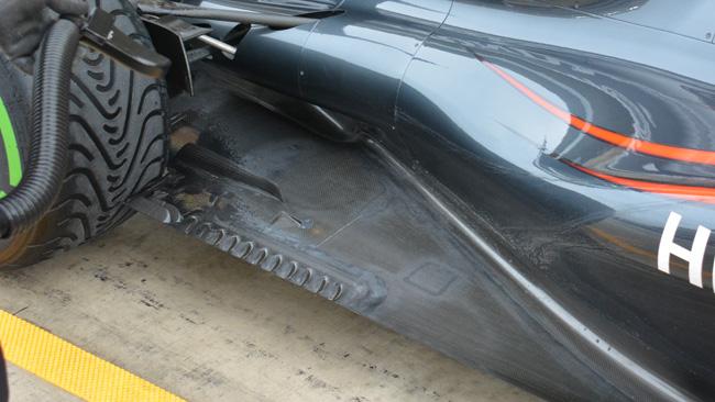 """McLaren: c'è una """"grattugia"""" sul fondo della MP4-30"""